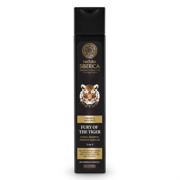 Energetický šampon na vlasy a tělo 2 v 1 «Nezkrotnost tygra»