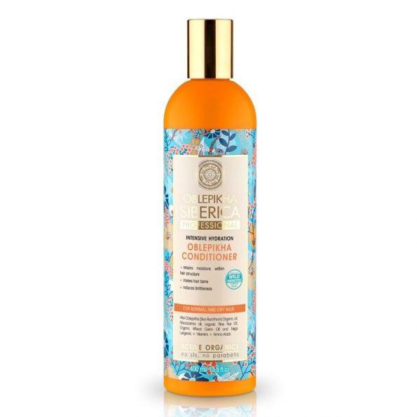 Rakytníkový balzám pro normální a suché vlasy «Intenzivní hydratace»