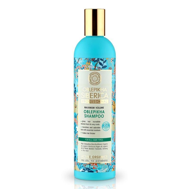 Rakytníkový šampón pro všechny typy vlasů «Maximální objem»