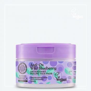 Wild Blueberry Antioxidační peelingové pleťové tamponky