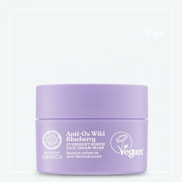 Wild Blueberry Noční obnovující pleťová krémová maska